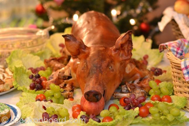 Pork Lechon for Christmas Party 2014 Onboard M.T.Mergus Photo by Nino Almendra