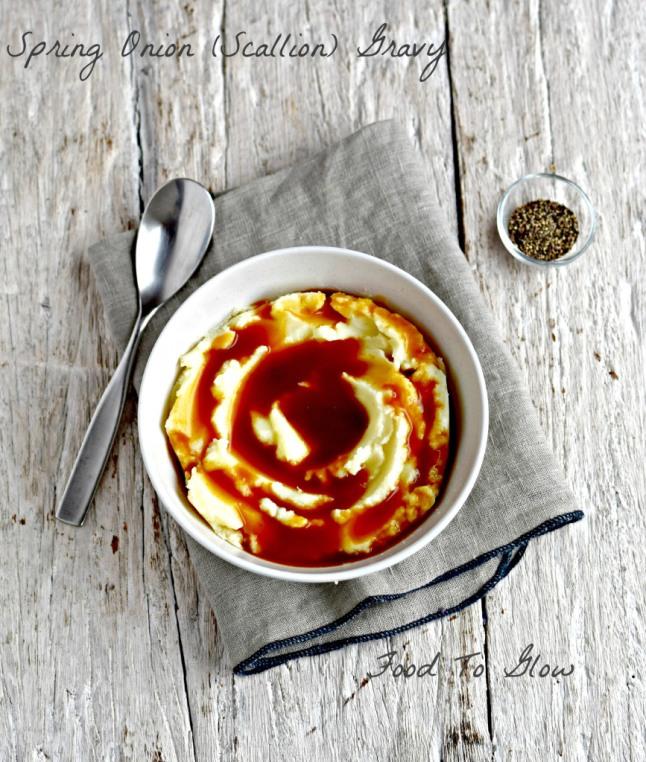 spring-onion-scallion-gravy food to glow